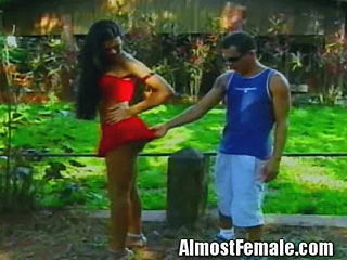 Sexy Latina Shemale banged outdoors