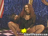 Tranny Fucks Customer on Stage