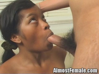 Tranny School Girl fucks a female student!