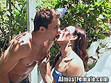 Shemale Fucks Her Boyfriend Outside
