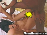 Shemale anal drilled