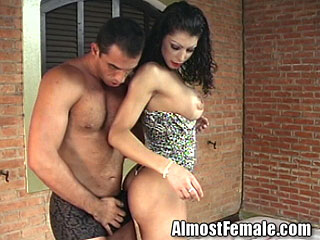 Hot Shemale Gets Fucked By Huge Cock