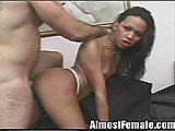 Tgirl Has Friend Over For a Fuck